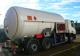 Semi-trailers and bobtails for road transport and distribution of LPG