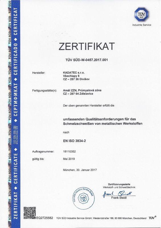 EN ISO 3834-2_AD2000 Merkblatt HP0